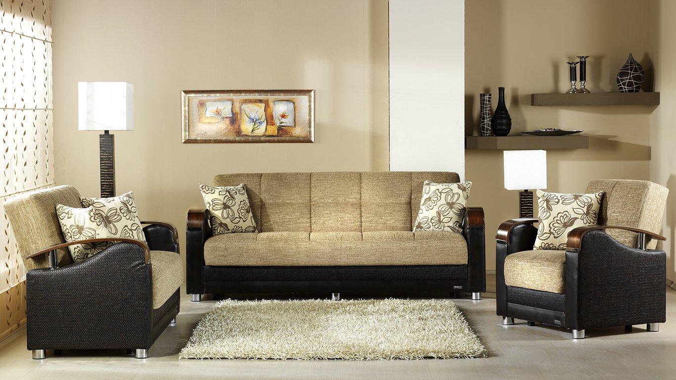 Luna Sofa Bed Fulya Brown