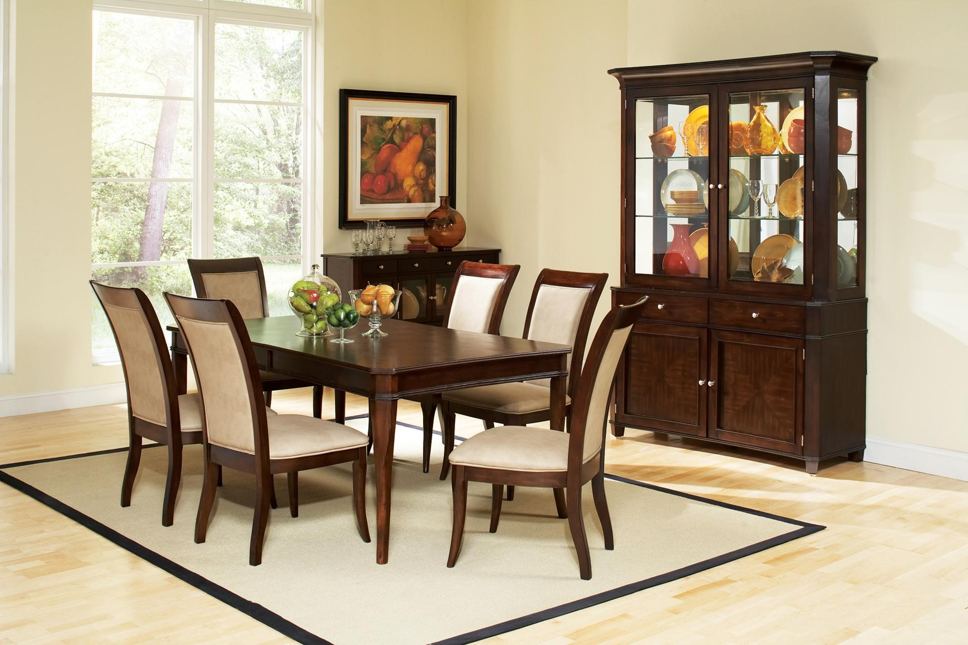 STEVE SILVER MARSEILLE 7-PIECE RECTANGULAR MARBLE TABLE AND UPHOLSTERED SIDE CHAIR DINING SET & STEVE SILVER MARSEILLE 7-PIECE RECTANGULAR MARBLE TABLE AND ...