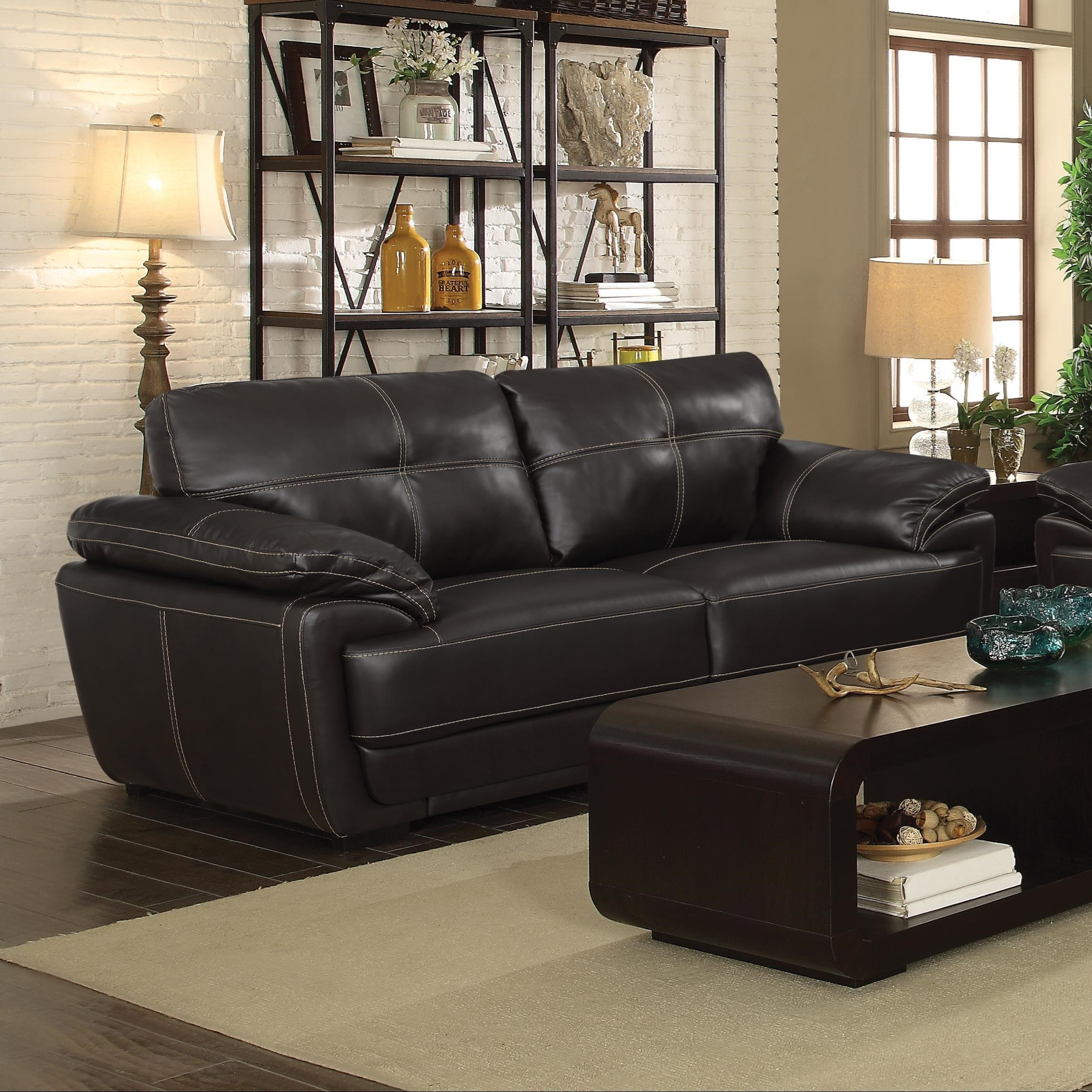 Zenon Brown Sofa Free Shipping Clearance